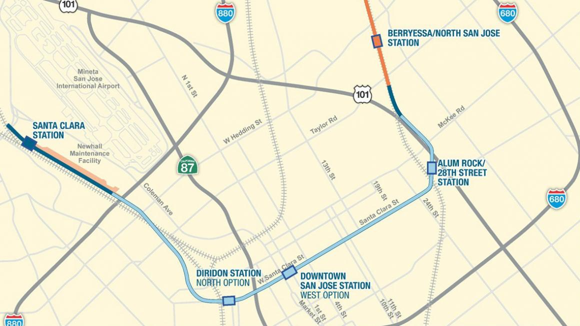 Field Work Begins to Advance Design on VTA's BART Phase II ... on religion map, trade map, languages spoken map, gender map,
