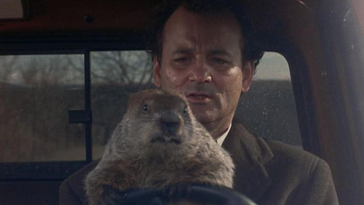man holding groundhog