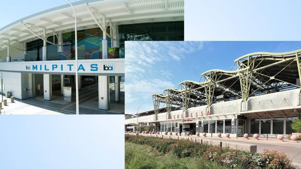 Milpitas and Berryessa BART stations