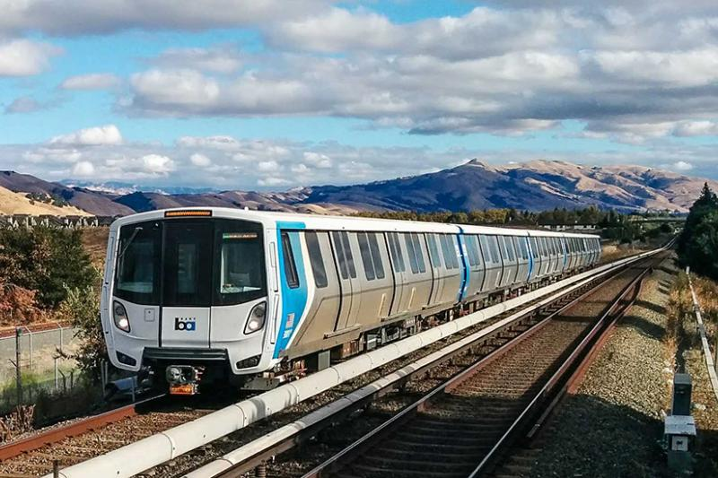 Image of a BART train