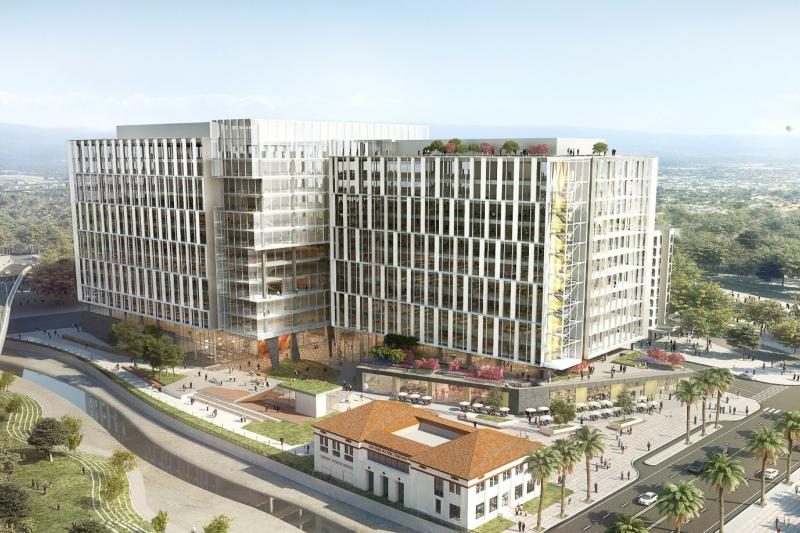 rendering of development near Diridon Station