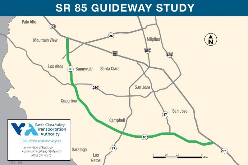 map of SR 85