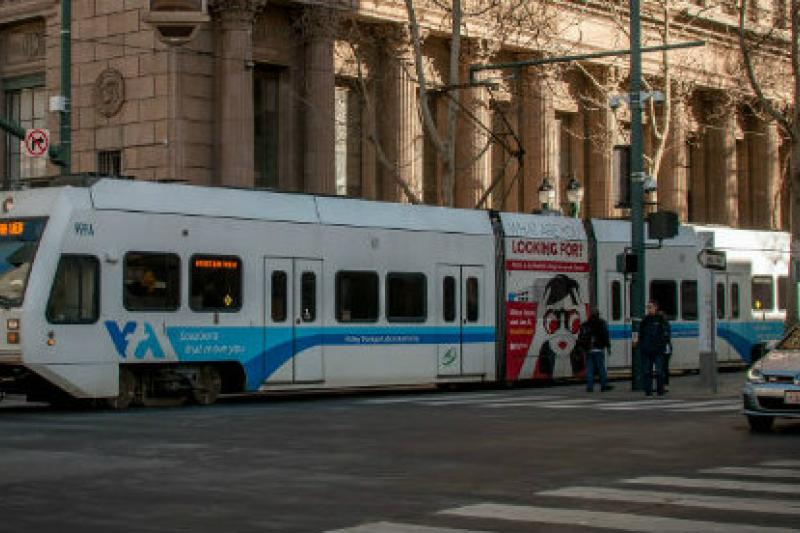 VTA light rail train
