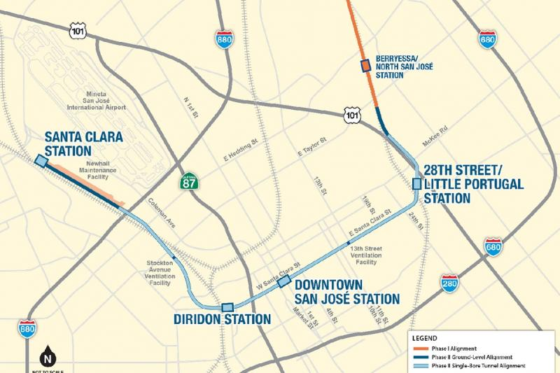 VTA's BART Phase II Alignment