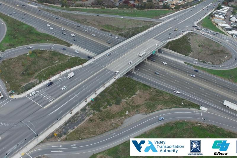 Interstate 280 and Wolfe Road Interchange rendering