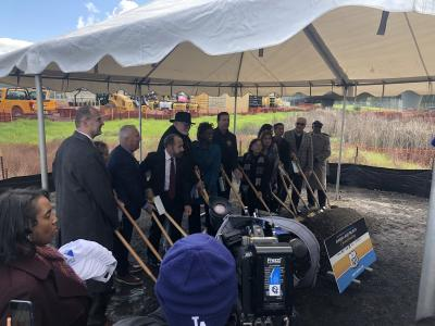 groundbreaing ceremony for express lanes