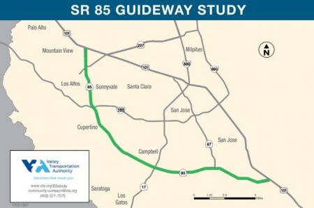 State Route 85 Study Map