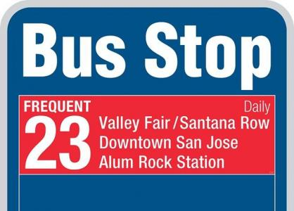 new bus stop sign design