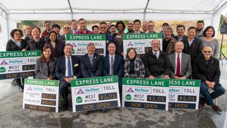 group photo at express lanes celebration