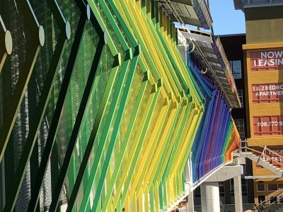 Colorful Pedestrian Bridge Now Graces Montague Expressway