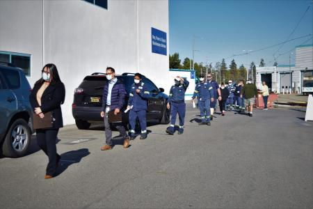 VTA employees line up for COVID testing